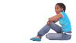 african american girl sitting down