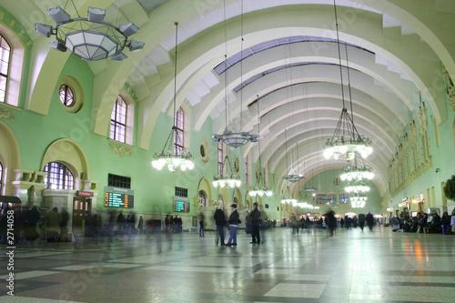 Foto auf AluDibond Bahnhof railroad station 2