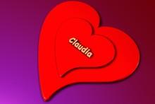 Claudia - 3d Gerendertes Herz