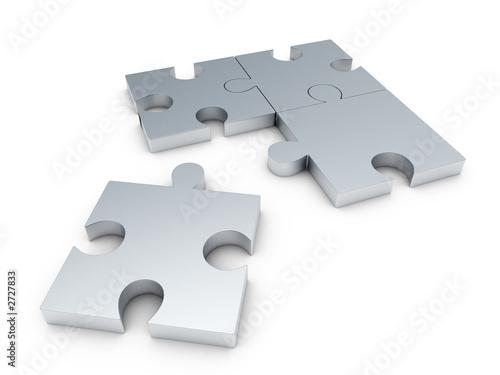 steel puzzle Canvas Print