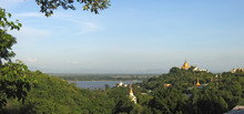 View From The Sagaing Hill On Paya Mingun And Amarapura With The