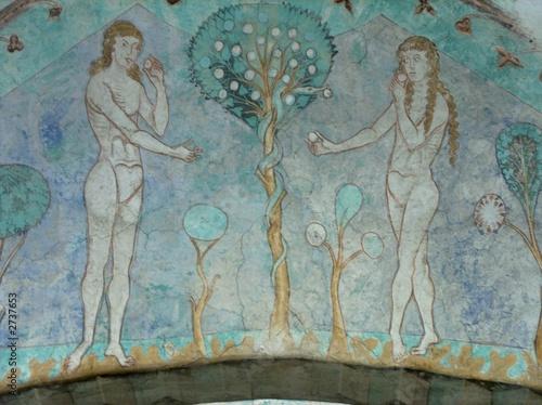 Valokuvatapetti gurk, fresken, adam und eva