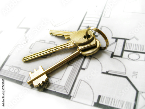 Photo  gold keys for the new dream home