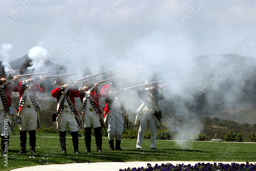 Fotografija british army firing a guns