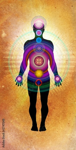 Fotografia  body chakras - healing energy