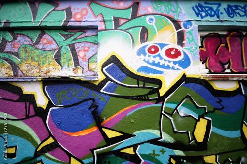 Foto op Aluminium Graffiti collage urban graffiti shot