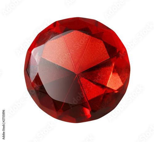 Fotografía  red gem isolated