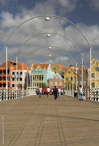Foto op Plexiglas Caraïben queen emma ponton bridge willemstad, curacao
