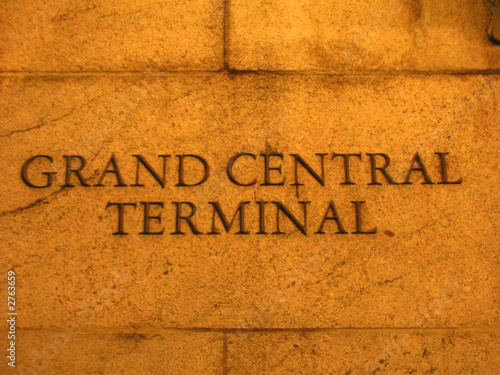 detail of the grand central terminal wall, rail station, new yor #2763659