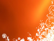 canvas print picture - classical orange colour