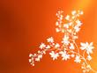 canvas print picture - classical orange colour v2