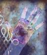 canvas print picture chakra hands - violet