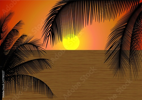Foto-Leinwand - palm beach