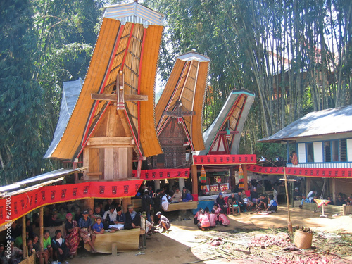 toraja ceremony in traditional houses, rantepao, sulawesi island #2790631
