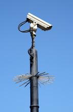 Street Security Cctv Camera An...