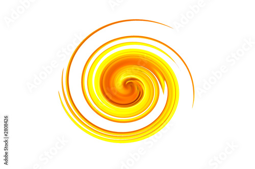 Printed kitchen splashbacks Spiral spirale jaune