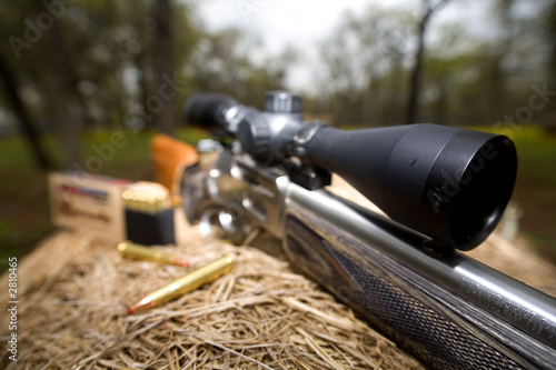 Aluminium Prints Hunting rifle