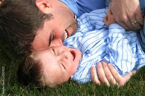 Fotografie, Obraz  father & son
