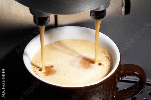 Fotografie, Obraz  kaffeemaschine mit tasse
