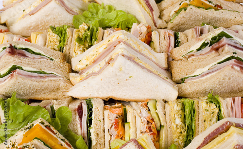 Staande foto Snack close up sandwich platter