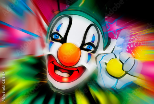 Foto-Plissee - face of a clown (von John Casey)