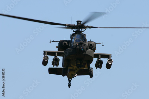 Tuinposter Helicopter apache attack helicopter