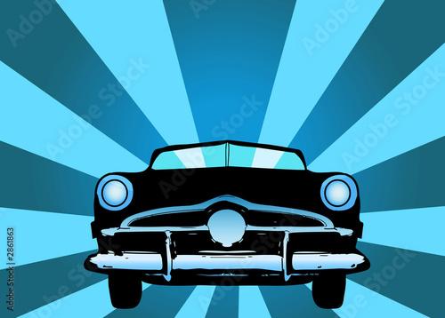 Plakat na zamówienie oldtimer car vector illustration