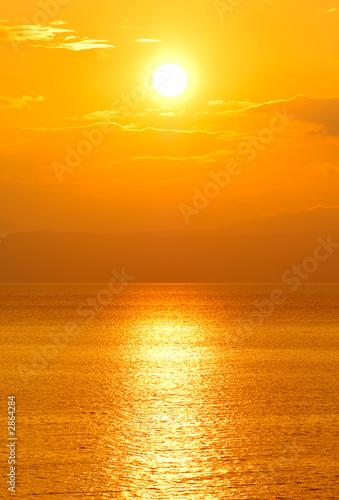 Foto auf Acrylglas See sonnenuntergang setting sun