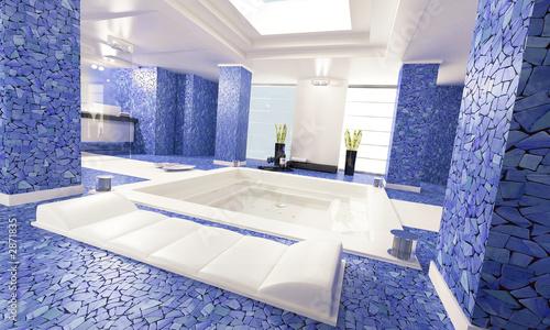 Fotografija  bathroom blue 1
