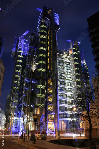 lloyds building by night Canvas Print