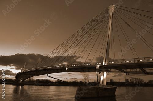 Poster Bridges la passerelle mimram entre strasbourg et kehl