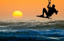Kite Boarder In Action