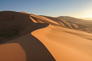 Fototapeta na wymiar erg chebbi sand dunes
