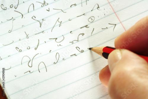 Fotografia taking shorthand
