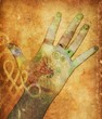 canvas print picture chakra hands