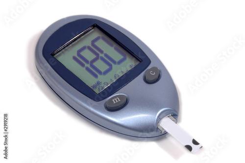 Fotografía  blood glucose meter