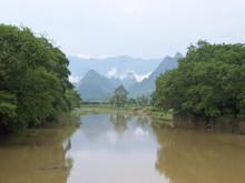 Mountains Of The Li Jiang River, Guilin, China