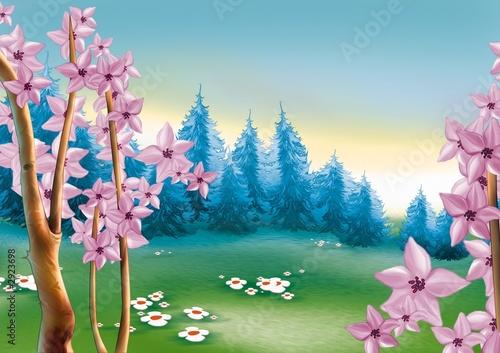 Foto-Lamellen - spring forest meadow