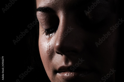 crying woman Fototapet