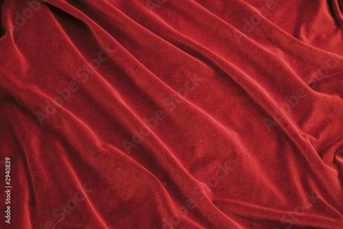 Photo red velvet fabric