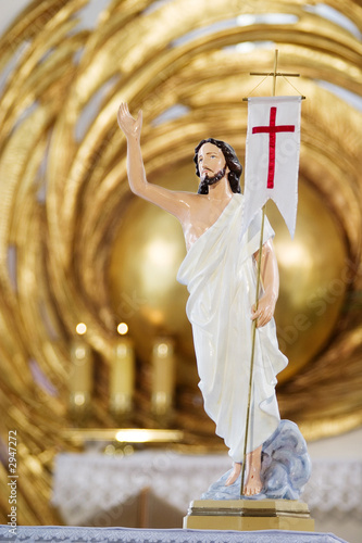 jesus christ sculpture in catholic church Poster Mural XXL