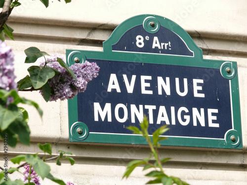 Fotografie, Tablou avenue montaigne 8e arrt