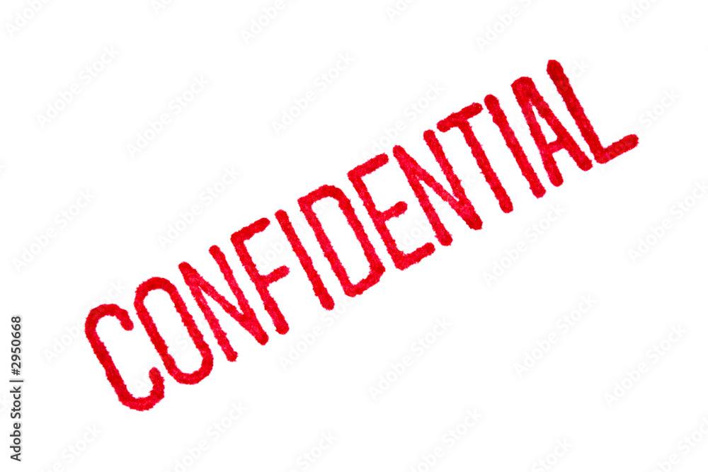 Fototapeta confidential