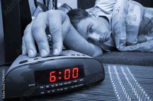 alarm clock guy Canvas Print