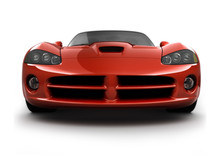 Front View Of A Fast Sports Car