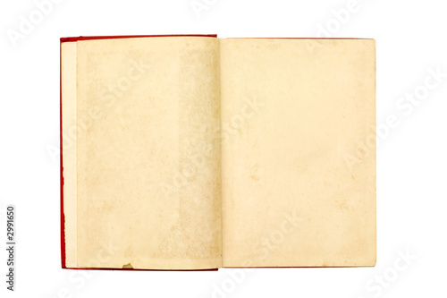 Fotografija  blank pages of a old book