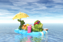 Frog On Vacation
