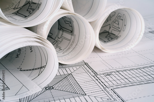 architect plans Canvas Print