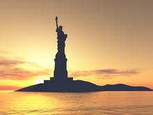 Liberty Statue Silhouette