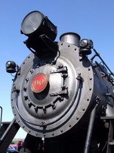 Steam Engine Number Plate And Headlight